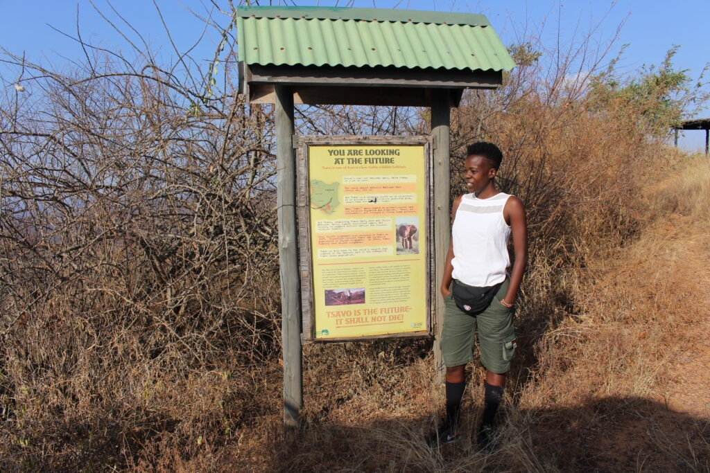 View point at Tsavo West National Park