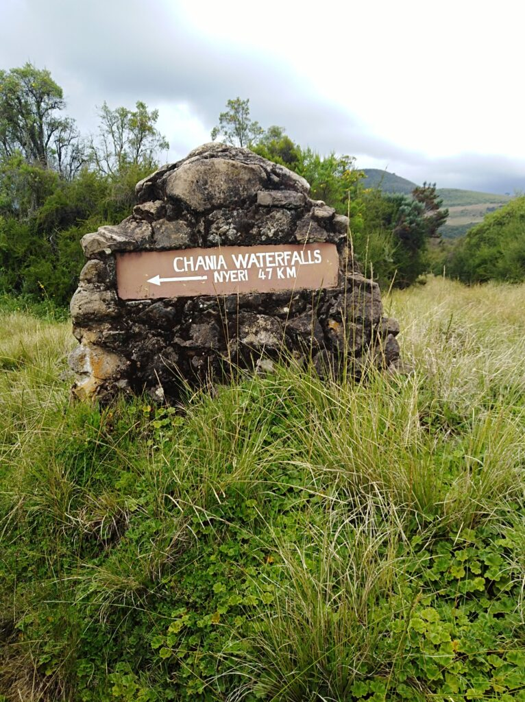 Directions to Chania Falls in Aberdare Ranges